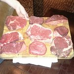An amazing array of steaks to choose from!