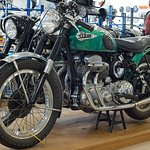 1954 Ariel on display at E Hayes and Sons store in Dee Street, Invercargill.