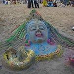 Sand art by local artist