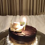 The complimentary Anniversary cake. <3