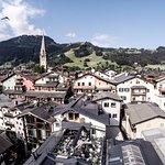 Blick über die Stadt auf unsere Terrasse