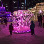 One small part of the fantastic light display in Odori Park Sapporo