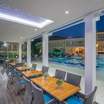 Dine by the pool