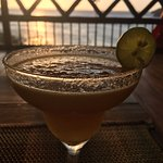 Passion fruit Margarita with a view