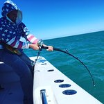 The battle between angler and Goliath Grouper!