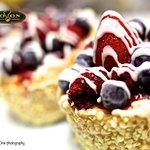 Berry Brule cheesecake
