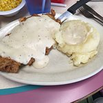 Excellent chicken fried steak can be found here. It was absolute perfection.