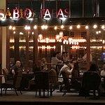 Summer patio dining, overlooking Historic downtown Pleasanton Main St.
