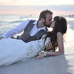 Married on the white sands in the crystal clear water.