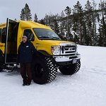 Our guide Jeff and the snow coach.