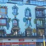 Diese tolle Fassade haben die Besitzer selber so schön gemacht.