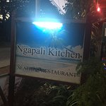 Ngapali Kitchen - sign out front