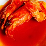 Tiger prawns in chilli sauce. Not spicy but delicious and meaty prawns. 4/5
