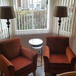Seating area in dining room to sit and relax with a cuppa and slice of home made cake