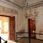 Wall frescos still intact at Mission Concepcion