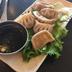 Steamed dumplings. Very good and sauce is perfectly spiced. Nice starter.