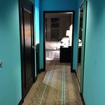 Hallway leading to corner Suite - lower floor