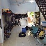 inside of the dive shop