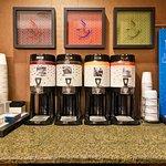 Free beverage station.
