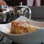 A Bakewell Tart with Custard