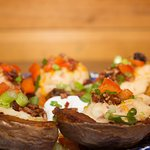 Baked potatoes at TenMile Station