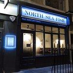 The restaurant side of North Sea Fish Restaurant