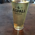 £3.90 for a pint of Aspall Cyder and lovey comfort food