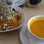 Noodle Bowl and Carrot Coconut soup