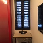 Desk at Window (Shutters great at blocking light, window did open)