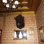 buffalo head in dining room