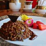 Truffle inspired chocolate dessert