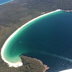 Wineglass bay with Coles Bay
