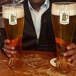 German Beer in 2 litre boot glass