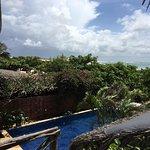 Foto da vista da varanda do quarto