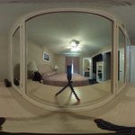 360 View of the master bedroom- with camera on the dresser