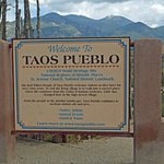 Entrance to the Taos Pueblo.