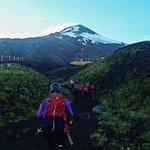Inicio del ascenso al Volcan Villarrica