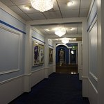 This is the hallway leading from the lobby to the breakfast room.