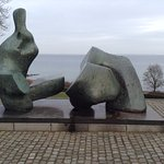 Henry Moore has a couple of massive sculptures here.