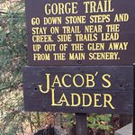The entrance to Gorge trail