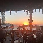 Sunset from the restaurant