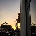 The celebrity heavy Catch seafood restaurant on Melrose and San Vicente in West Hollywood.