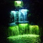Waterfall when lights festivel is on
