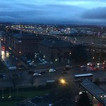 M8 over Clyde from our 10th floor room. Dusk.