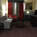 This is the two bedroom king suite. You walk in the door your looking into the living room. Each