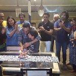 Bday celebration with Sanjay manjrekar