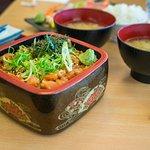 Salmon natto don