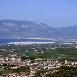 Ancient and New Corinth from above