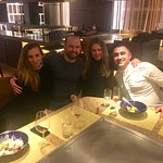 The teppanyaki experience allows you to converse and make friends whilst sitting at the dinner t