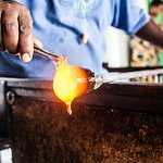 Watch our talented disabled staff members make glass-blown products, and have a try yourself!